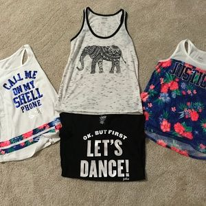 Girls Justice Lot of Shirts - Plus an Extra Tank